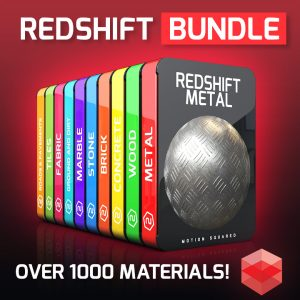 Redshift Material Packs Bundle for Cinema 4D