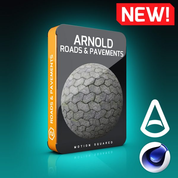 Arnold Road and Pavement Materials Pack for Cinema 4D