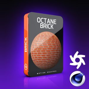 Octane Brick Materials Pack for Cinema 4D