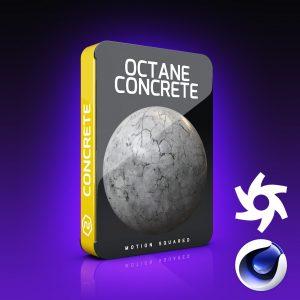 Octane Concrete Materials Pack for Cinema 4D