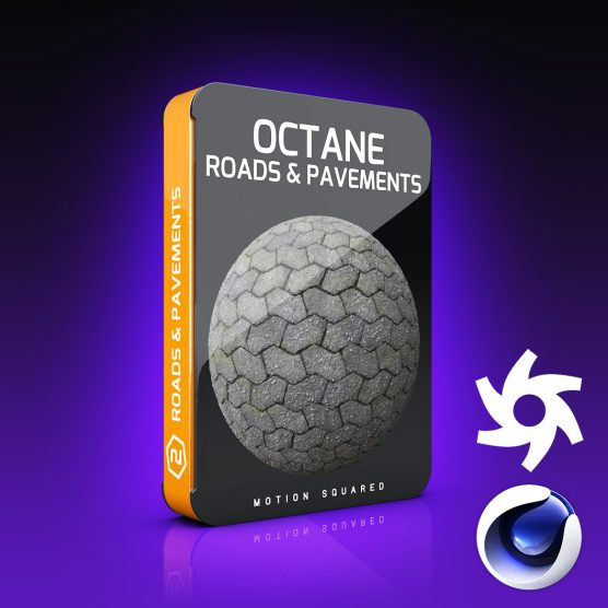 Octane Road And Pavement Materials Pack for Cinema 4D