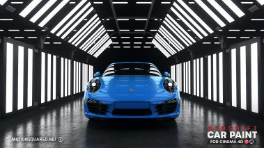 Blue Paint in Warehouse Studio