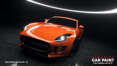 Orange Painted Car in Ringlight Studio