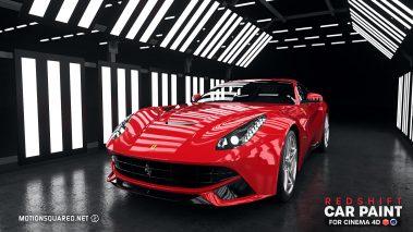 Red Ferrari in Warehouse Studio