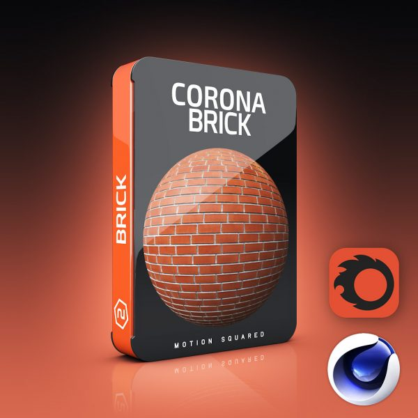 corona brick materials pack for cinema 4d