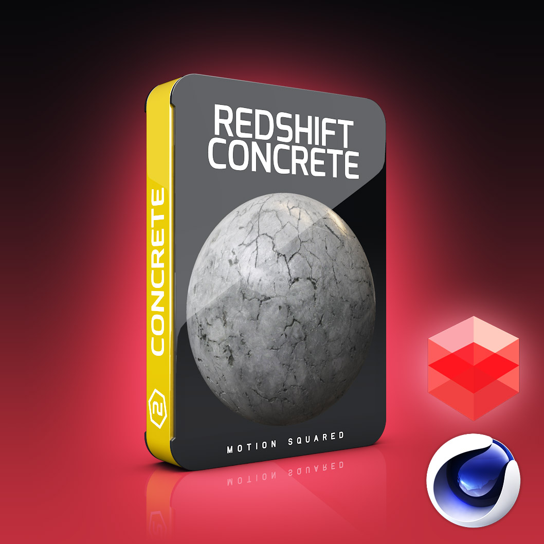 Redshift Concrete Materials Pack for Cinema 4D - MOTION SQUARED