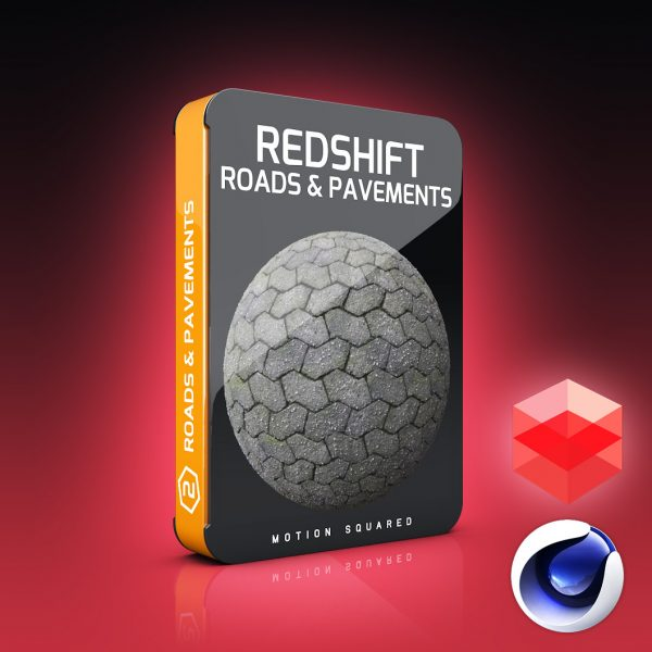 redshift roads and pavement materials pack for cinema 4d