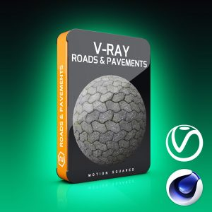 v-ray roads and pavements texture pack for cinema 4d